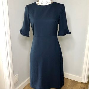 Banana Republic Navy Blue Short Sleeve Dress 0